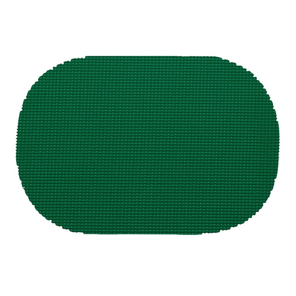 12 Piece Hunter Green Placemats,(Set of 12), Machine Washable, Solid Pattern, Oval Shape, Contemporary And Traditional Style, Perfect For Everyday Entertaining, Season Or Holiday Lace Material