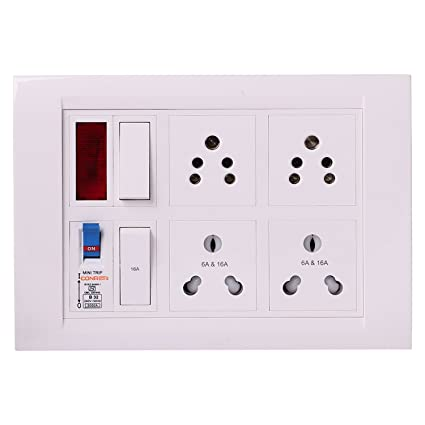 Bahul power strip extension multi outlet board Contains One Orpat ...