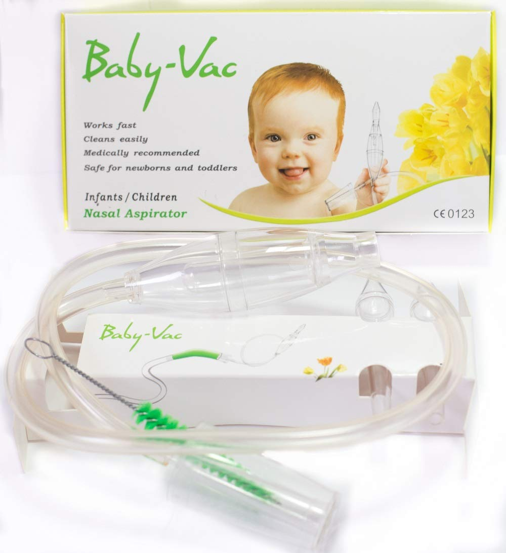 BABY-VAC Baby Nasal Aspirator The Snotsucker Safe Hygienic Quick Best Results for Newborns and Toddlers