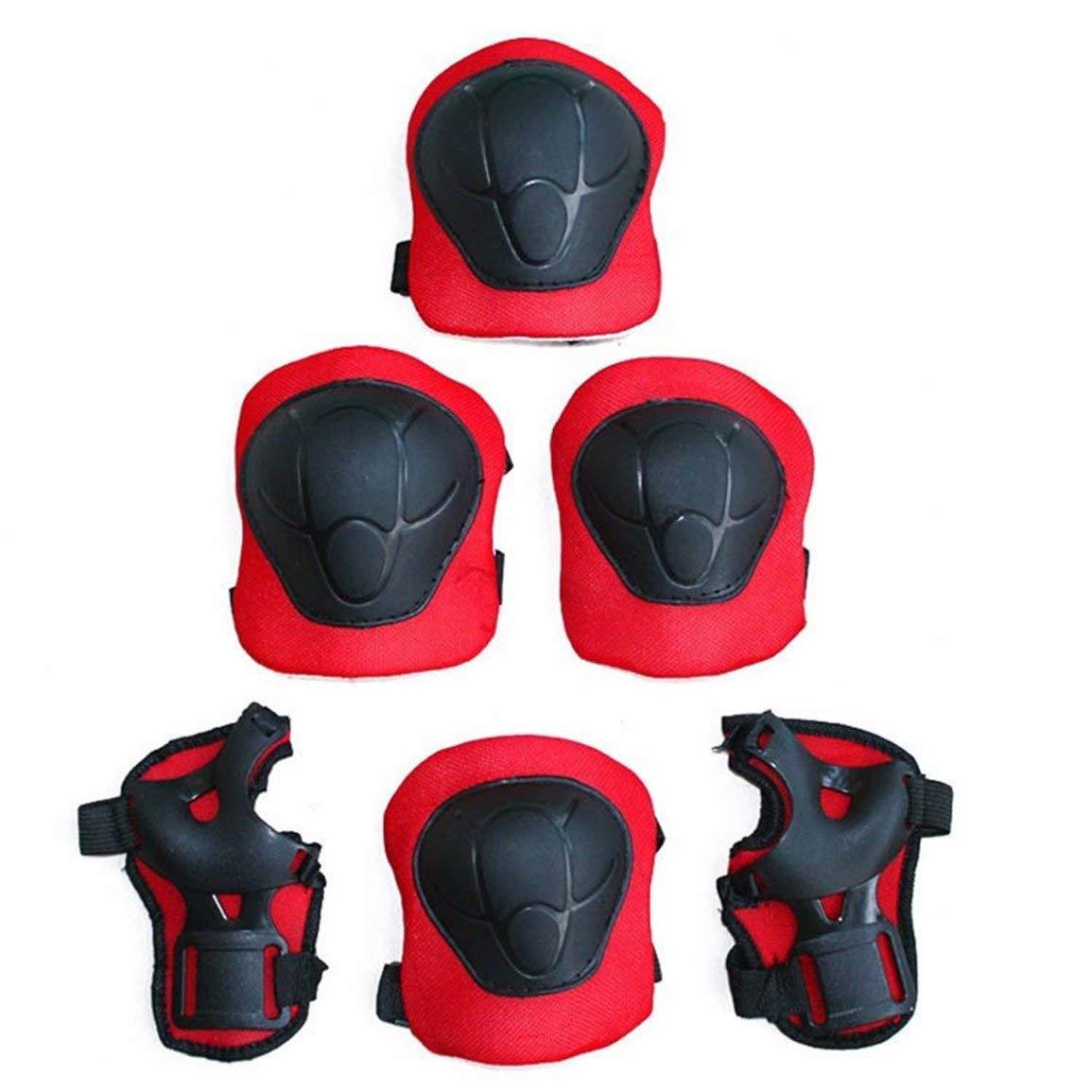 7pcs ensemble universel enfants enfants /équipement de protection ensemble confortable scooter skate rouleau cycliste genouill/ères coudi/ères tapis fghfhfgjdfj