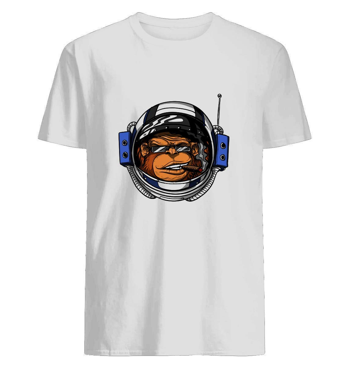 Funny Monkey Astronaut Smoking A Cigar In Space Shirts