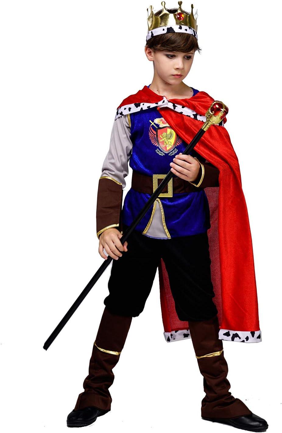 SEA HARE Disfraz de Rey Medieval Niño (S:4-6 años): Amazon.es ...