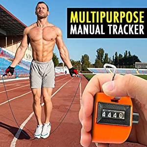 3pcs Hand Tally Counter 4 Digit Display Pitch Counter Clicker Handheld Mechanical Number Counter with Finger Ring and Resettable Manual Click Lap Tracker for Sports Stadium Coach Casino and Event