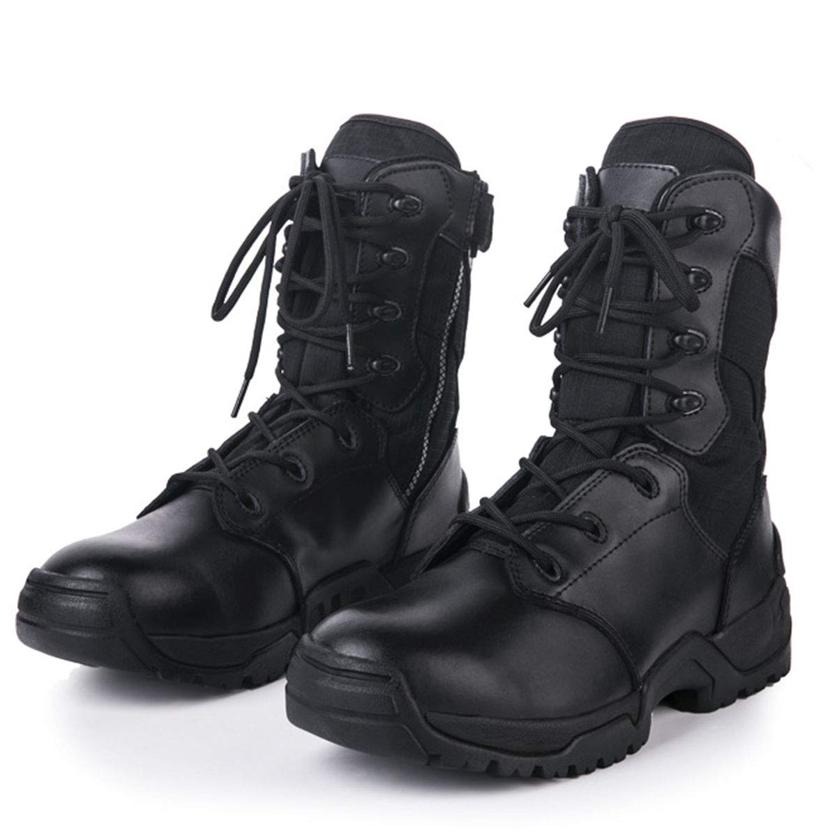 Leder Army Patrol Taktische Action Combat Stiefel Stiefel Stiefel Flache Niedrige Ferse Lace Up Combat Army Military Ankle Stiefel Größe 31bc0e