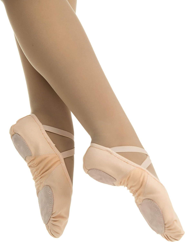 Danzcue Adult Stretch Canvas Split Sole Ballet Slipper