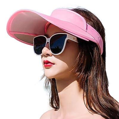 Sombreros Mujer Viseras Gorras para Sol Verano Sombrero Protector Solar Visera Gorros Plegable Moda Salvaje Gorra Bicicleta Viaje Protección UV Protector Cuello Sombrilla Hecho Mano, B-OneSize: Ropa y accesorios