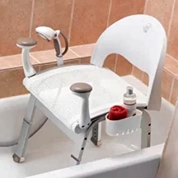 bath vanity stool for bathroom use seat white bath tub and shower chair compact - Bathroom Vanity Stool