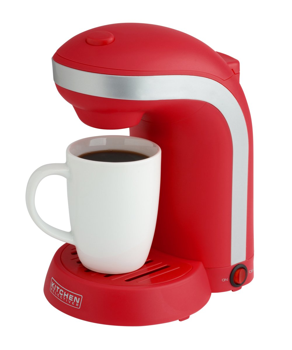 Kitchen Selectives: Kitchen Selectives Single Drip Coffee Maker With Mug, Red