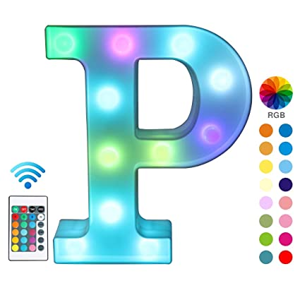Amazon.com: Luces LED coloridas para cartel con mando a ...
