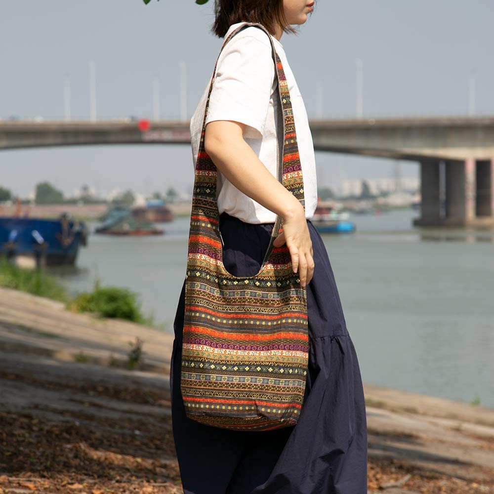 Women New Wide Ethnic Shoulder Strap Bag Cotton Webbing Crossbody Handle Fashion