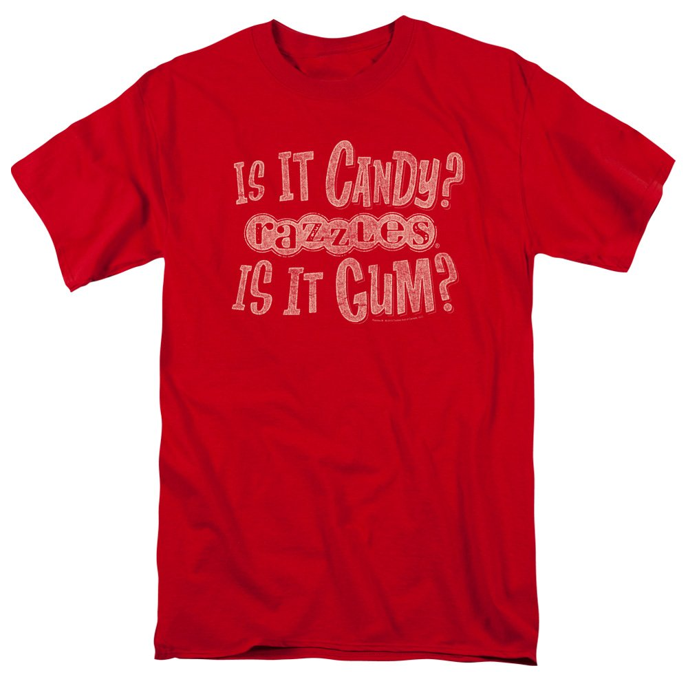 Trevco Razzles-What Is This-Short Sleeve Adult 18-1 Tee-Red44