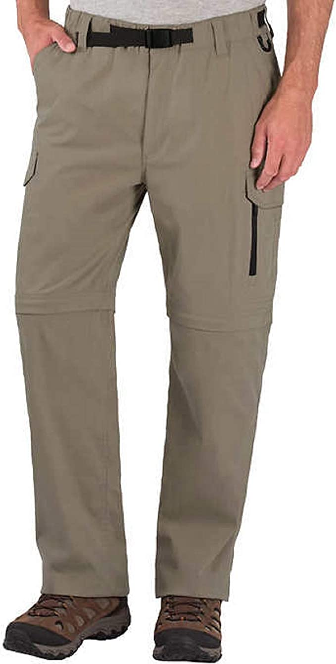 BC Clothing Men/'s Convertible Stretch Cargo Hiking Zippered Pockets Pants//Short