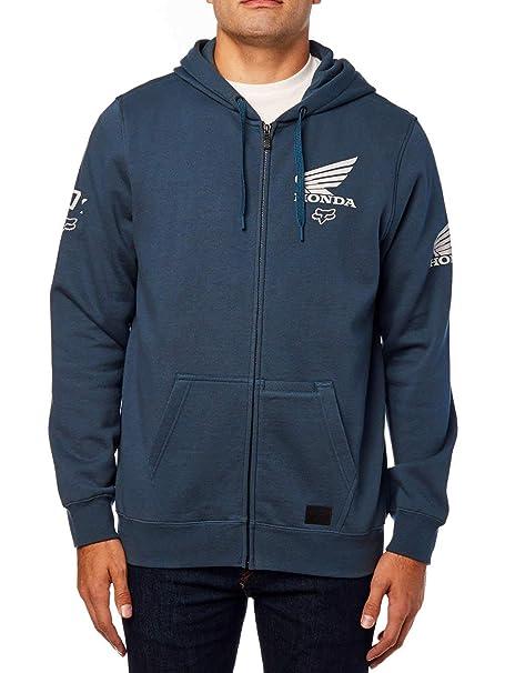 Sudadera para Hombre Fox Honda Zip Fleece (Azul Marino) (Small)