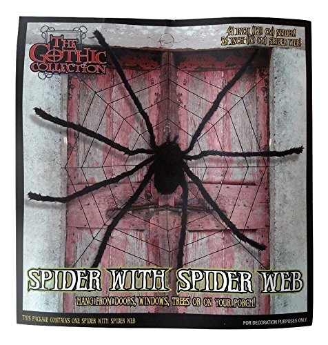 GIANT HALLOWEEN SPIDER WEB with a GIANT 4 FOOT SPIDER! ()