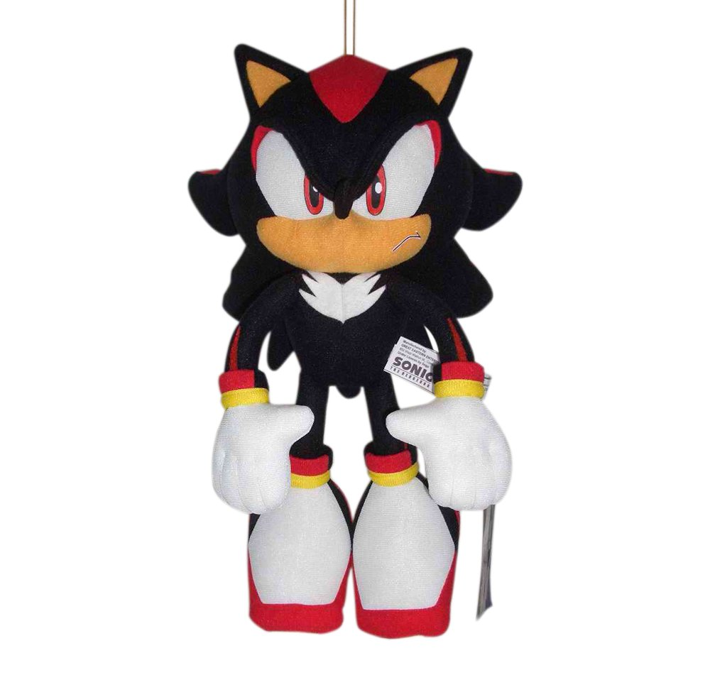 """Ships Next Day GE Great Eastern Sonic The Hedgehog 12/"""" Super Shadow Plush"""