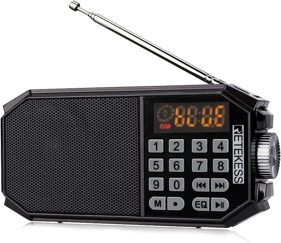 Retekess TR612 Pocket Radio Batteriebetrieben Tragbares Radio Schulen f/ür den Au/ßenbereich Konferenzen Reisen Stereo-FM-Empf/änger mit Kopfh/örer