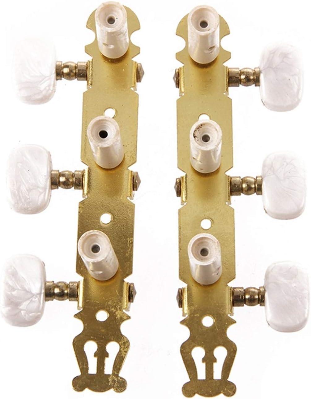 Clavijas de afinación de guitarra acústica, Un conjunto de teclas de ajuste de guitarra clásica PEGS Machine Heads Tuner Partes de guitarra (Color : Gold)