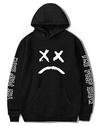 Leslady Damen Kapuzenpullover R.I.P Coole Rapper Hip Pop Pullover  Straßenstil Sweatshirt Winter Hoodie with Große Tasche d25e2d5d3b