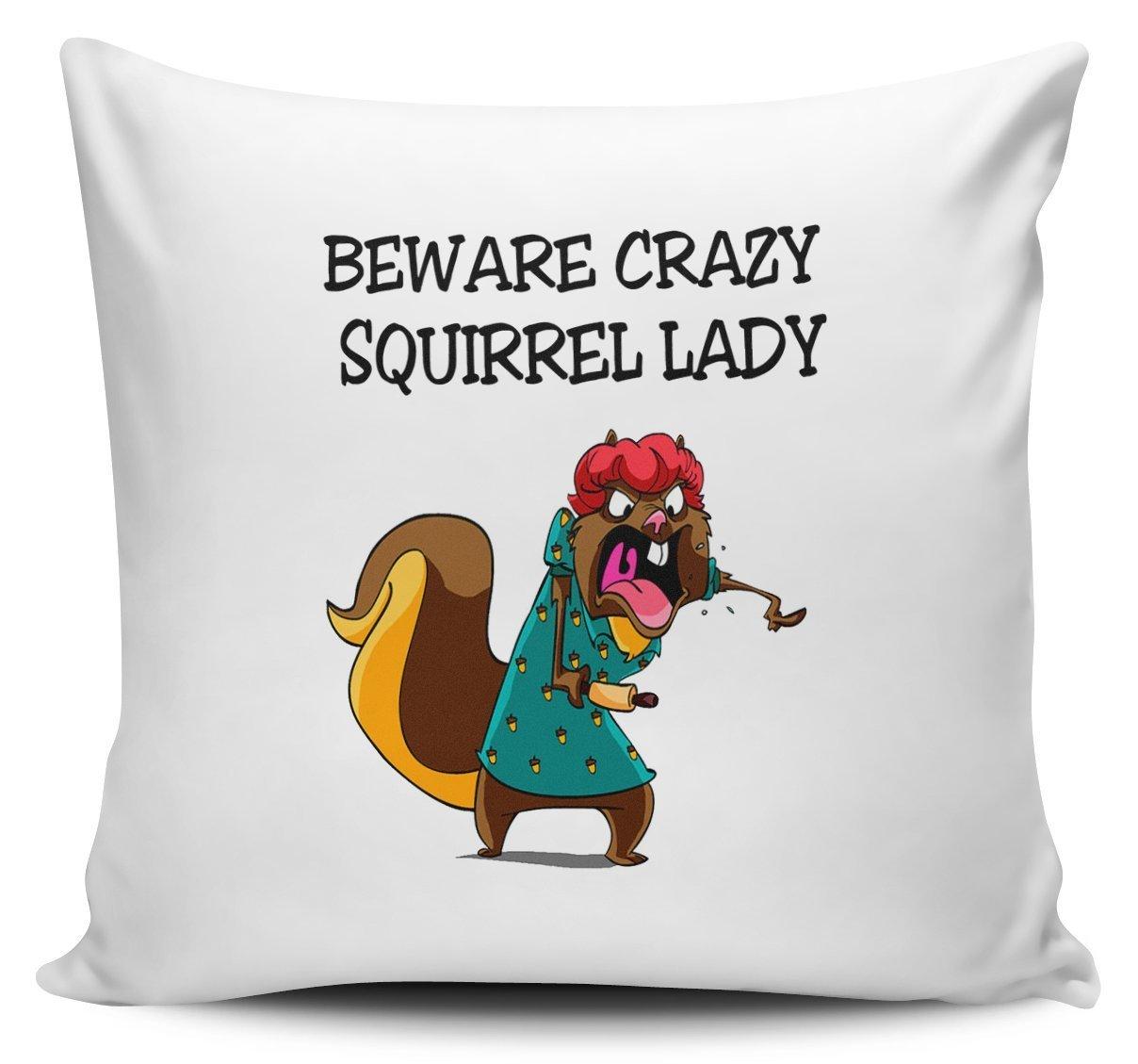 Amazon.com: yohoba cuidado con Crazy Lady de ardilla Novedad ...