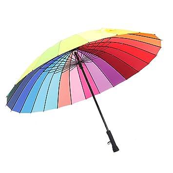 GKPLY Paraguas De Golf Recto A Prueba De Viento Lluvia/Protección UV Paraguas De Viaje