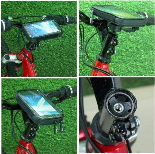 Lightweight Waterproof Bike Cycle Head Stem Phone Mount for
