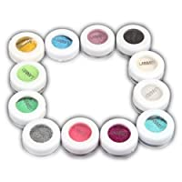 12 Boxes of Makeup Loose Pearl Eyeshadow Powder Glitter Pigment -Assorted Color