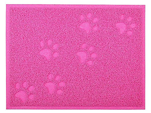 DM Cat Litter Box Debris Catcher Mat,Kitty Scatter Control Rug,16×12 Inches,5 Colors Available
