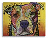 Dean Russo Dogs Have A Way Printed on 11x14 Wood Pallet Slats Wall Art Sign Plaque Distressed Design