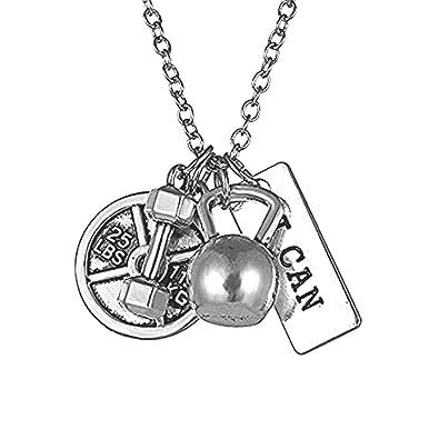 Amazon.com: Rinhoo collar unisex de acero inoxidable, con ...