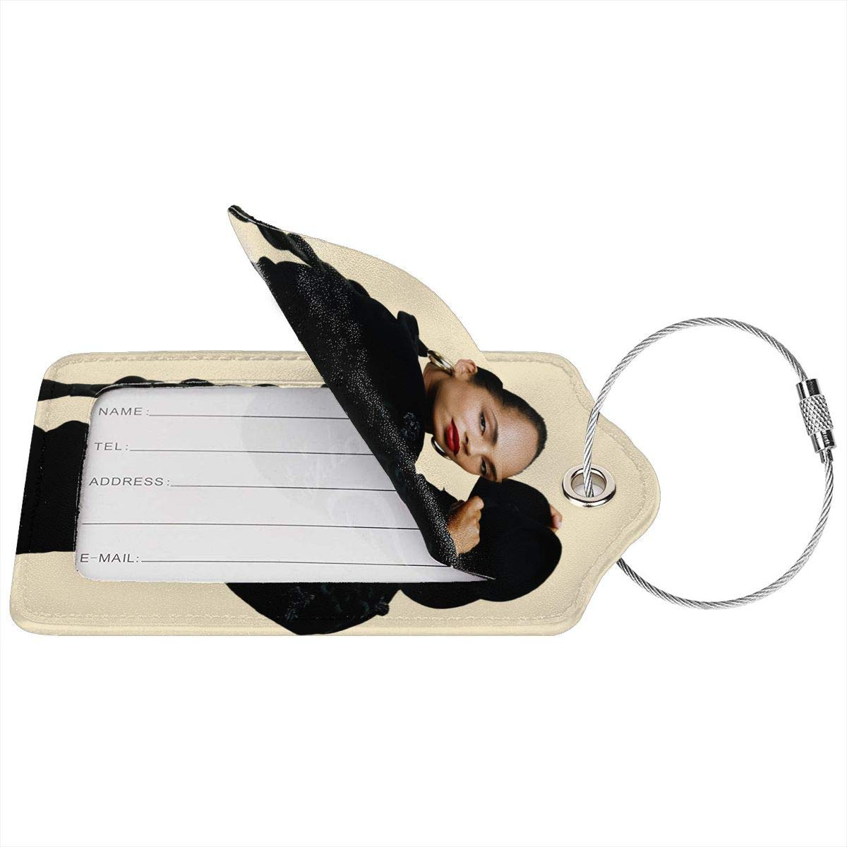 White Sade Bring Me Home Leather Luggage Tag Travel ID Label For Baggage Suitcase