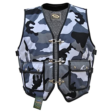 stable quality really comfortable sale usa online Amazon.fr : Veste gilet en textile Biker Camouflage (S)