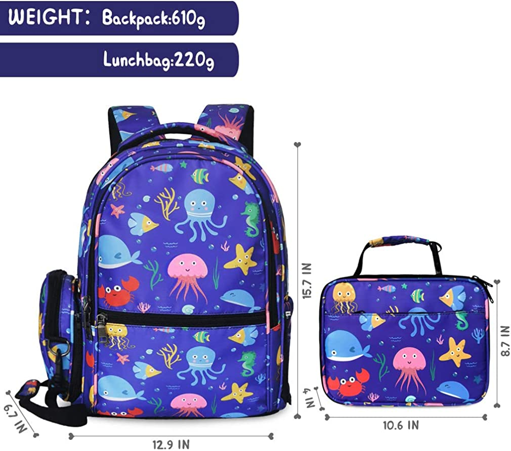 Cute Backpack for Girls Bookbag School Backpack with Lunch Bag