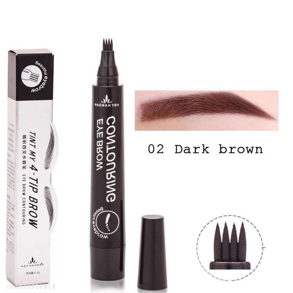Amazon.com : Waterproof Microblading Eyebrow Tattoo Pen 4 Head Fine ...
