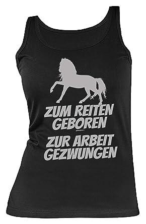 Reiter Arbeit Spruche Motiv Damen Trager Shirt Zum Reiten