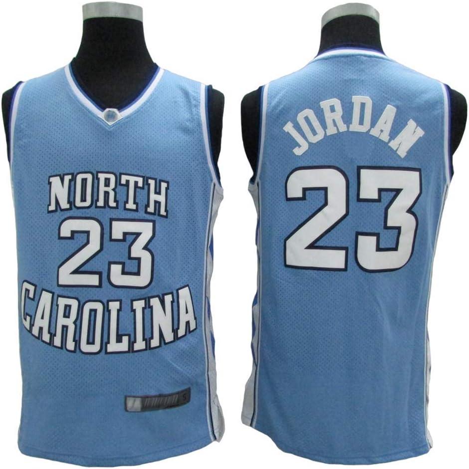 LLZYL Jersey North Carolina Classic Retro Jersey 23# Jordan Camisetas de Baloncesto Hombres y Mujeres Jersey Tela Transpirable Fresca