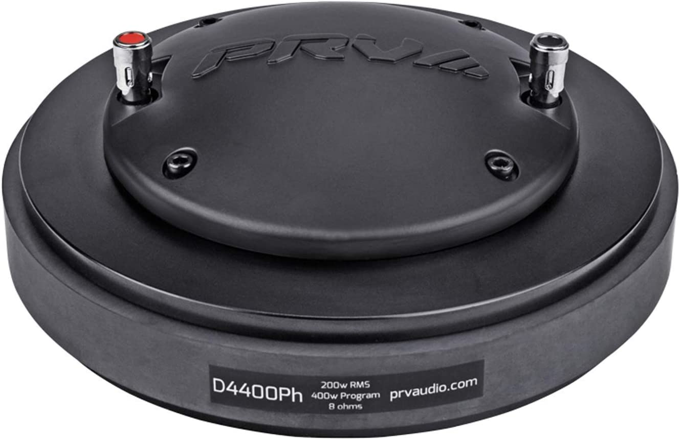 Single PRV Audio D4400Ph 2 Exit Bolt-On Phenolic 200 Watts RMS Pro Audio Compression Driver 4 VC 109dB