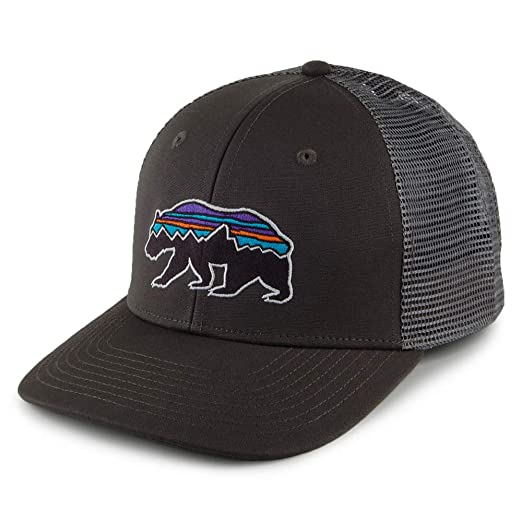Amazon.com  Patagonia Fitz Roy Bear Trucker Mid Crown Adjustable Hat ... 7be38437595