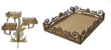 Kit para hacer bandejas de madera DM + bandeja a juego para candy bar mesa dulce