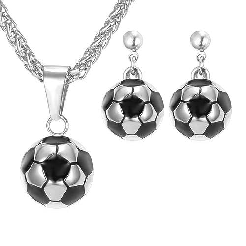 Pendientes para Mujer Bola & fútbol colgante collar con cadena de ...