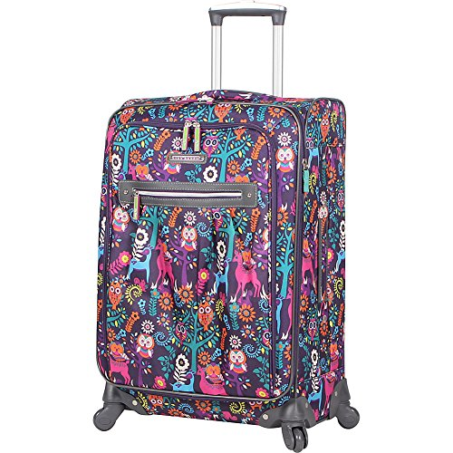 Lily Bloom Luggage Carry On Expandable Design Pattern Suitcase For Woman With Spinner Wheels