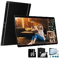 4G Tablets 10 Pulgadas 64GB, 3GB RAM Android 8.1 8MP Cámara Dual SIM/WiFi/Google Play/Office/Netflix/GPS/OTG/Bluetooth Tablet PC Buenas Voukou(Negro)