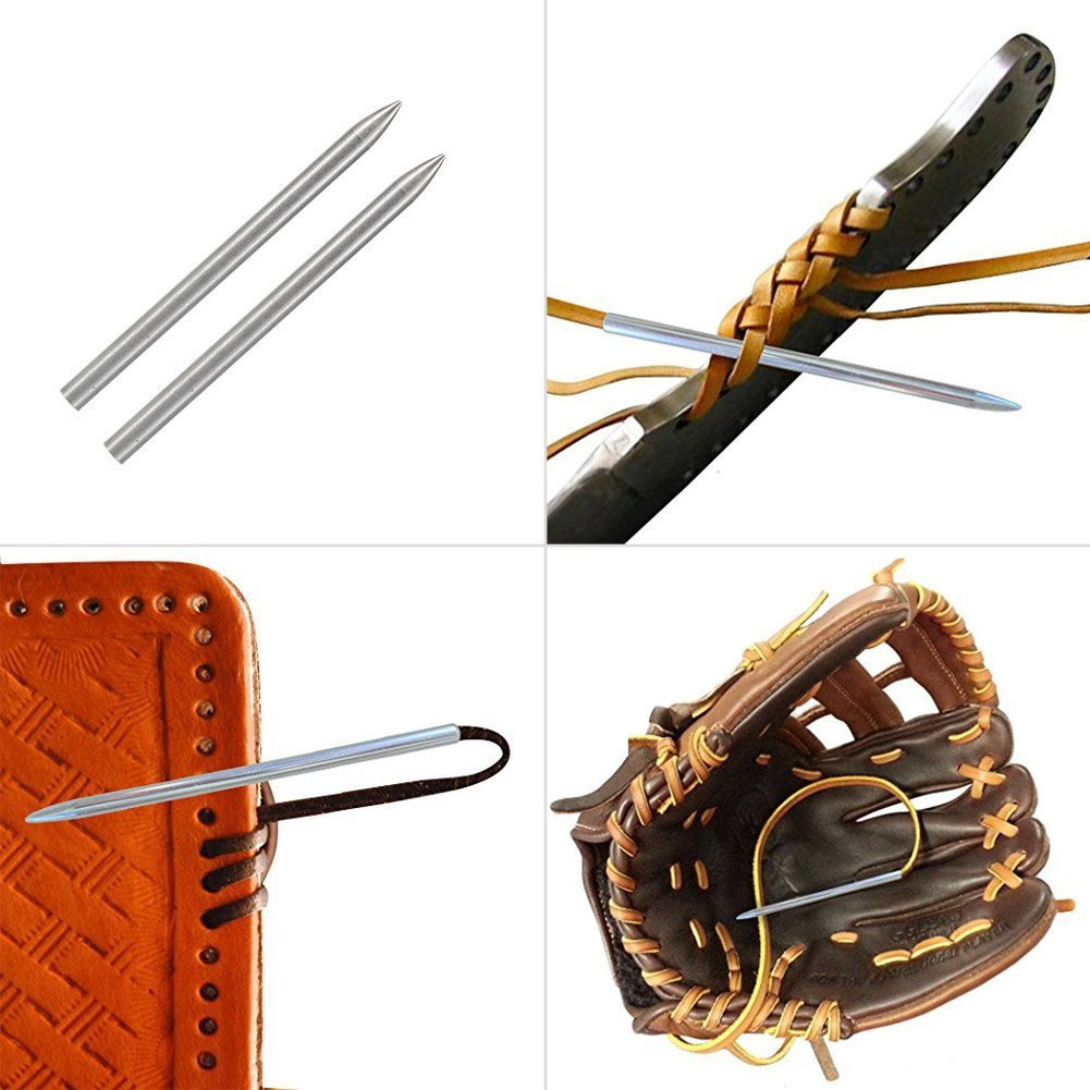 PandaHall Elite 6 Pcs Paracord Needles Stainless Steel FID Length 3 inches Leather Lacing Weaving Stitching 6 Colors