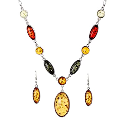 YAZILIND New Design Jewelry Sets Tibetan Silver Pendant Necklace Water Drop Earrings Set Jewellery For Women 7xpETspX