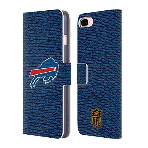 Official NFL Football Buffalo Bills Logo Leather Book Wallet Case Cover For Apple iPhone 7 Plus / 8 (Buffalo Bills Nfl Leather)