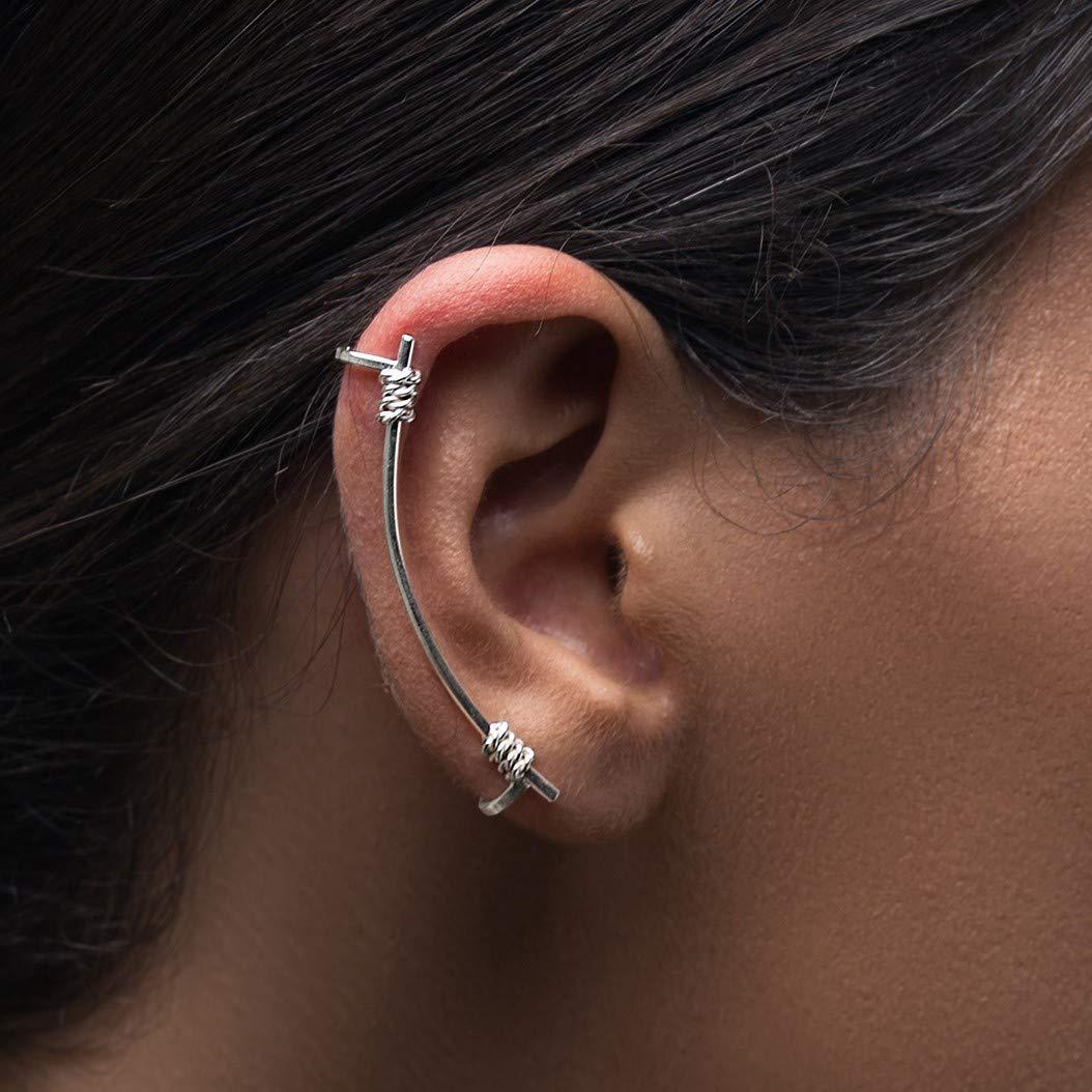 Amazon Com Silver Ear Cuff No Piercing Gift Ear Climber