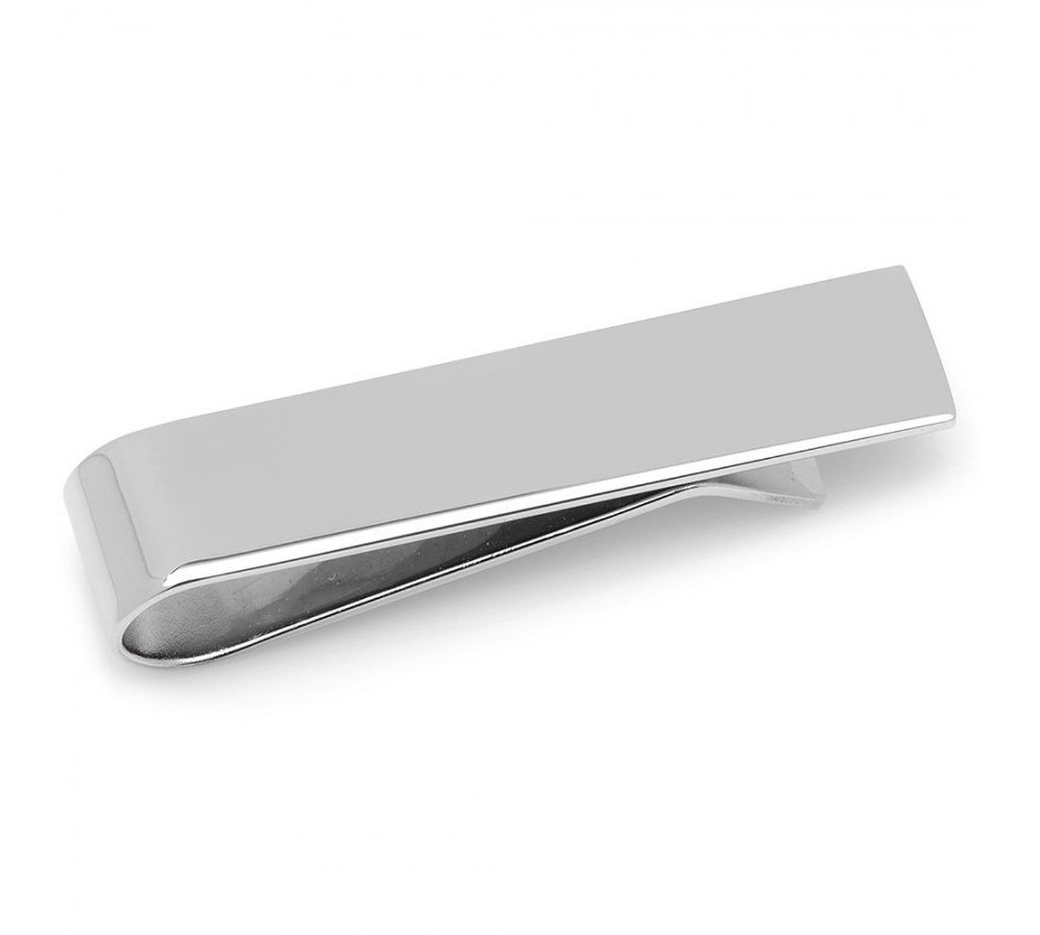 Best Modern Skinny Silver Tie Bar Clip, GIFT BOXED by Puentes Denver