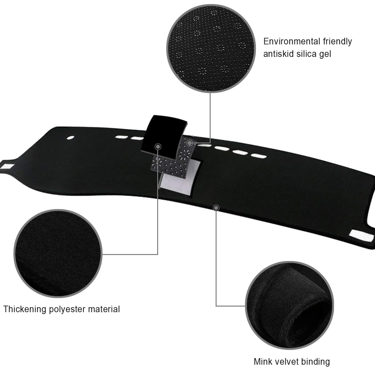 Aiqiying Dash Covers,Dashboard Mat Sun Cover Pad Dash Mat Fits for Toyota RAV4 Corolla Camry 2007-2011 Camry