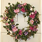 Colorful-Bloom-Silk-Spring-Door-Wreath-22-Inch-Handcrafted-on-a-Grapevine-Wreath-Base-Display-in-Spring-Easter-and-Summer
