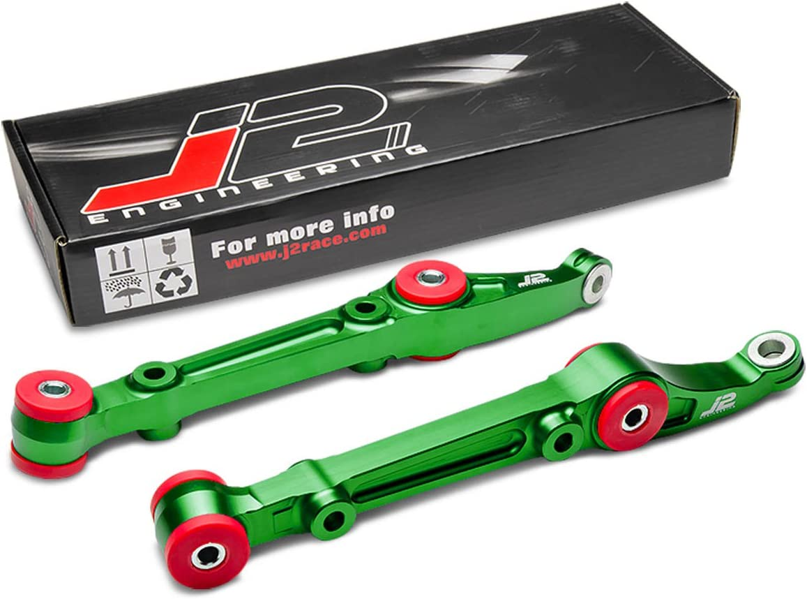DNA Motoring J2 Engineering Aluminum Green Anodized Suspension Front Lower Control Arm