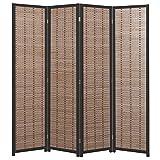 Product review for Decorative Openwork Design Black Wood Framed 4 Panel Folding Screen / Freestanding Room Divider - MyGift